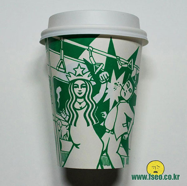 Creative-Yet-Funny-Illustrations-with-Starbucks-Logo-Soo-Min-Kim (13)