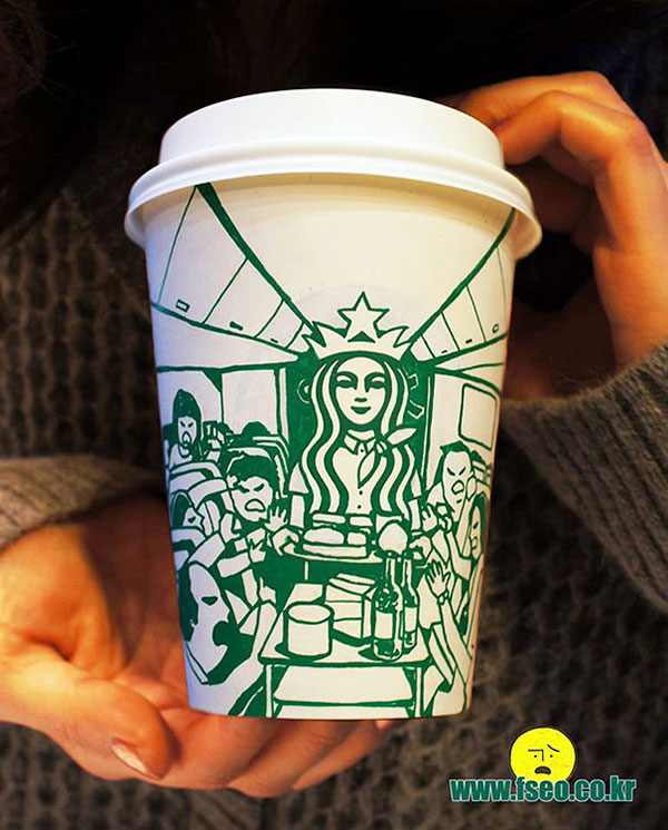 Creative-Yet-Funny-Illustrations-with-Starbucks-Logo-Soo-Min-Kim (16)