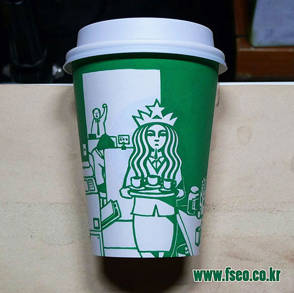 Creative-Yet-Funny-Illustrations-with-Starbucks-Logo-Soo-Min-Kim (17)