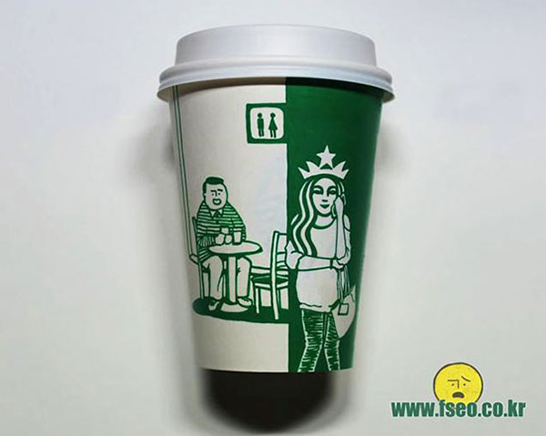 Creative-Yet-Funny-Illustrations-with-Starbucks-Logo-Soo-Min-Kim (18)