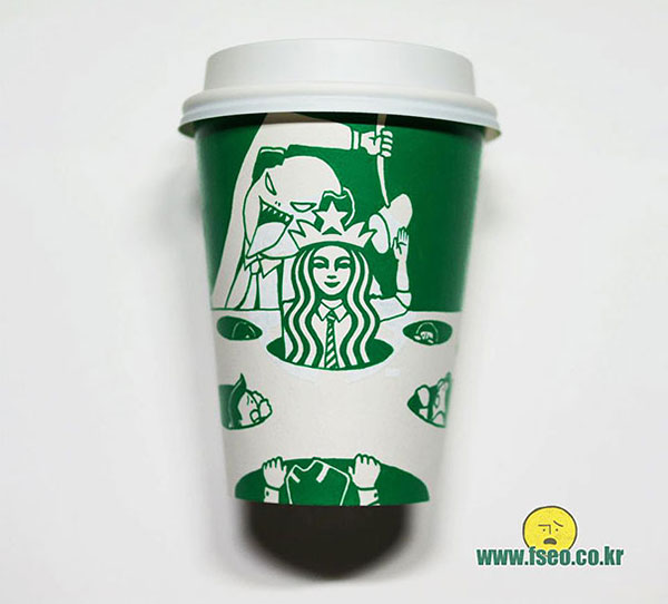 Creative-Yet-Funny-Illustrations-with-Starbucks-Logo-Soo-Min-Kim (21)