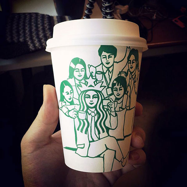 Creative-Yet-Funny-Illustrations-with-Starbucks-Logo-Soo-Min-Kim (22)