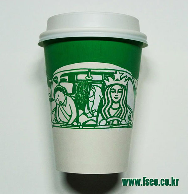 Creative-Yet-Funny-Illustrations-with-Starbucks-Logo-Soo-Min-Kim (24)