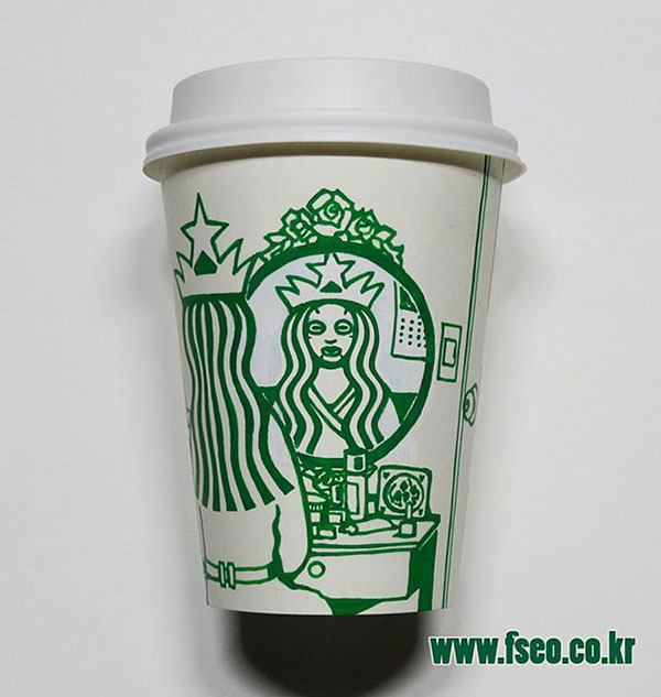 Creative-Yet-Funny-Illustrations-with-Starbucks-Logo-Soo-Min-Kim (25)