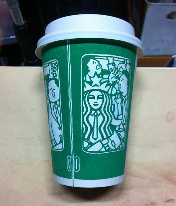 Creative-Yet-Funny-Illustrations-with-Starbucks-Logo-Soo-Min-Kim (26)