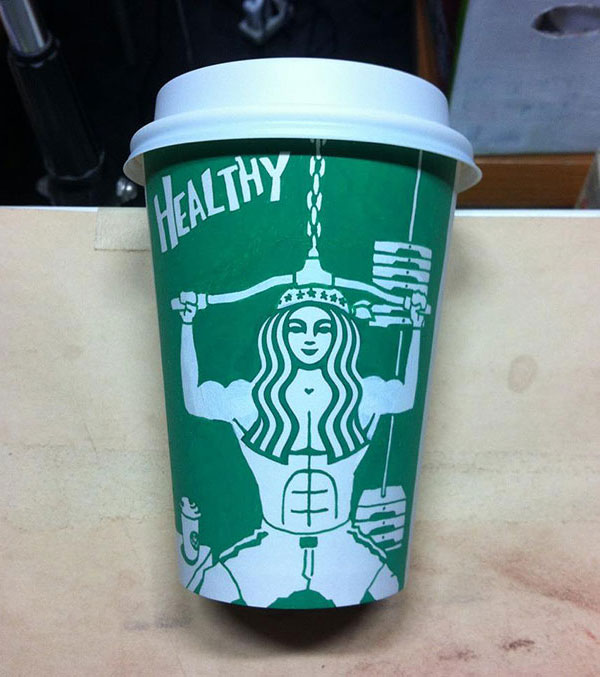 Creative-Yet-Funny-Illustrations-with-Starbucks-Logo-Soo-Min-Kim (29)