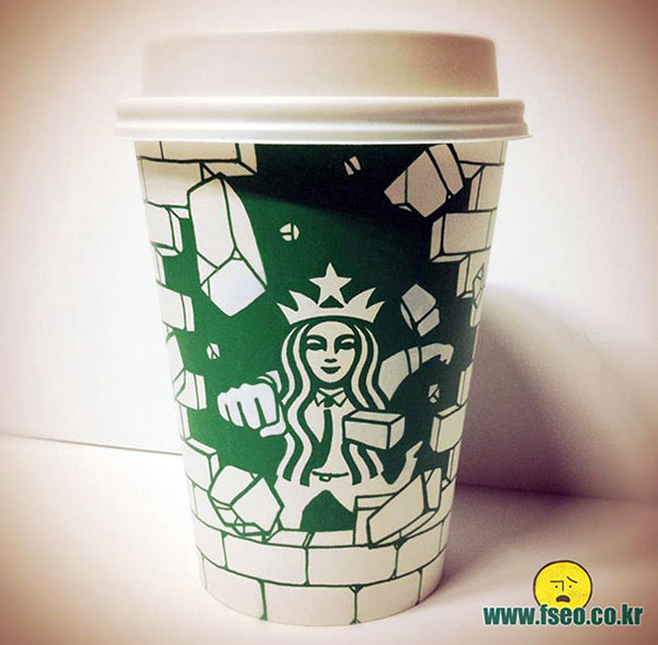 Creative-Yet-Funny-Illustrations-with-Starbucks-Logo-Soo-Min-Kim (31)