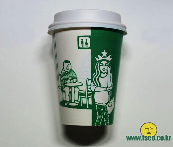 Creative-Yet-Funny-Illustrations-with-Starbucks-Logo-Soo-Min-Kim (4)