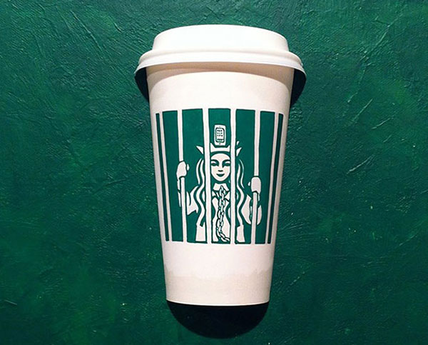 Creative-Yet-Funny-Illustrations-with-Starbucks-Logo-Soo-Min-Kim (8)