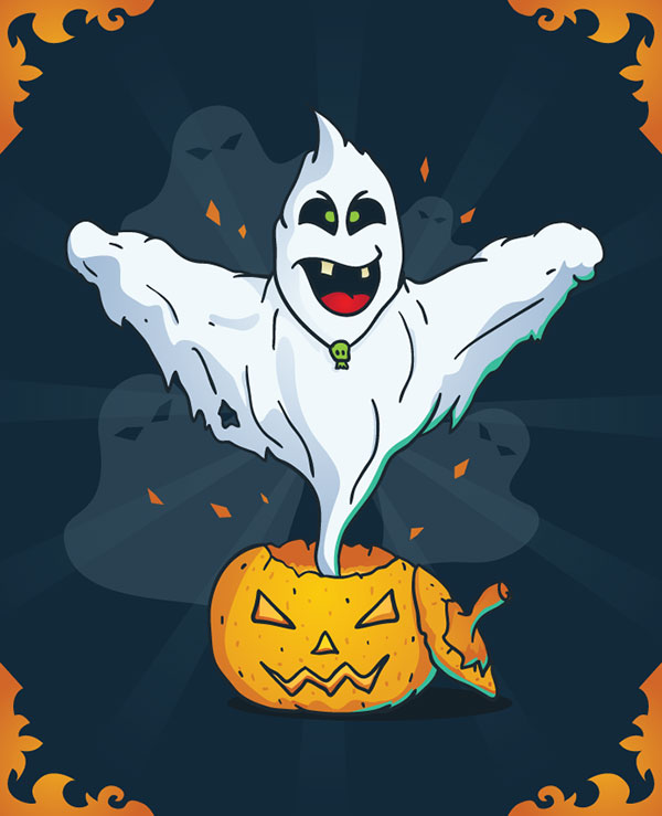 Free-Vector-Halloween-Ghost-Poster