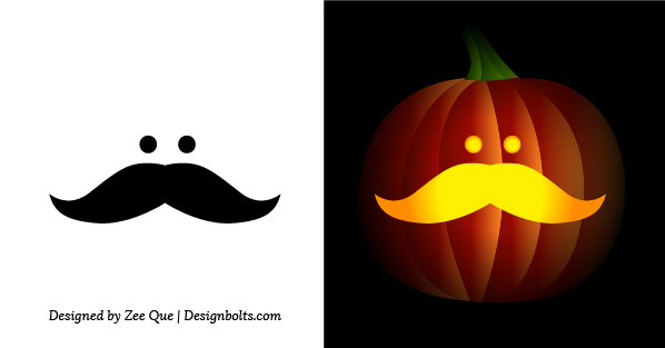 Free Simple & Easy Pumpkin Carving Stencils / Patterns for Kids 2014 : Easy Pumpkin Decorating Ideas For Toddlers For Kids