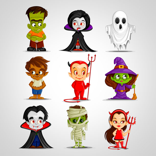 Halloween-2014-Monster-costume-vector-Icons