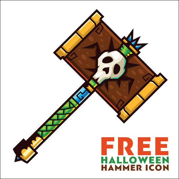 Halloween-Hammer-Icon-Vector-Ai