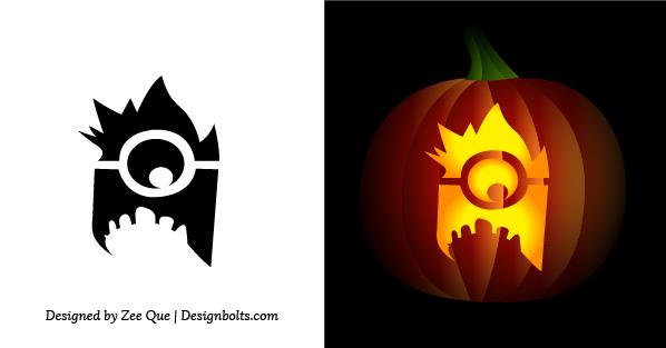 Minion Simple Pumpkin Carving Stencil For Kids