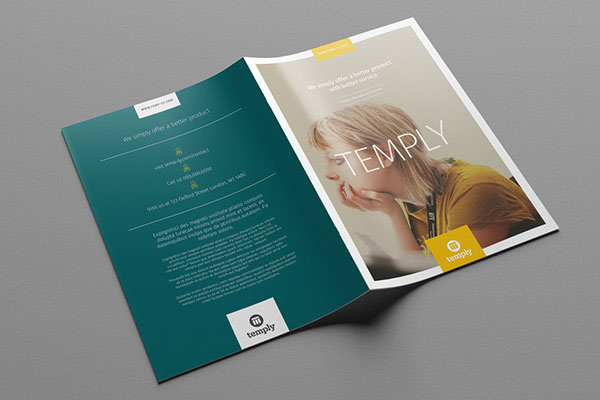 Beautiful Modern Brochure  Folder Design Ideas