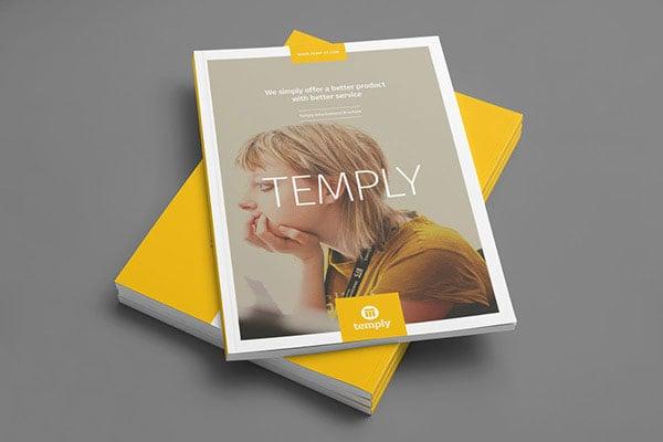 35 beautiful modern brochure folder design ideas 2014. Black Bedroom Furniture Sets. Home Design Ideas