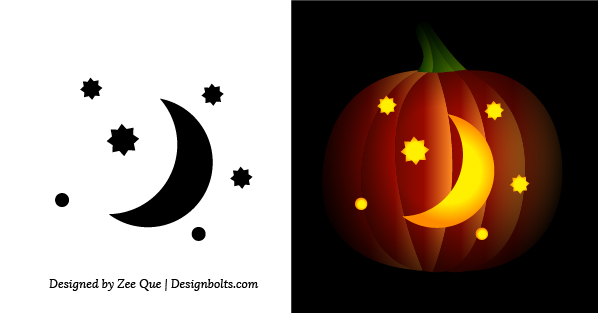 Free simple easy pumpkin carving stencils patterns for kids 2014 moon simple pumpkin carving stencil for kids maxwellsz