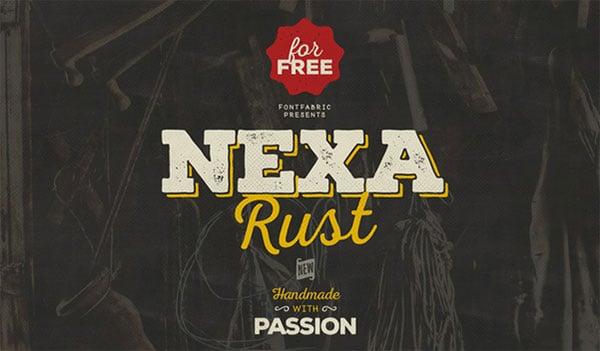 Nexa-Free-Rough-Bold-Slab-Serif-Font