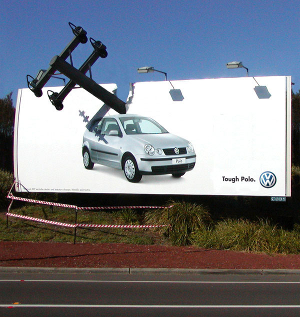 VW-Polo---Tough-Car-Bilboard-advertisment
