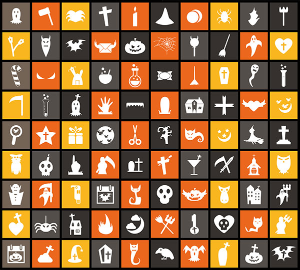free-flat-vector-halloween-icons