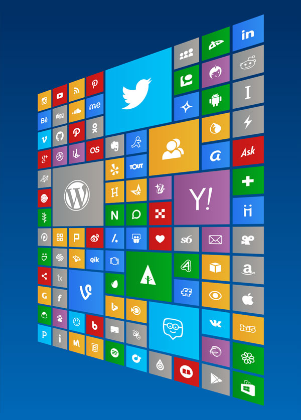 130-Social-Media-free-Windows-10-Icons