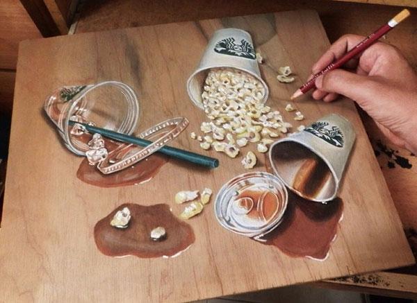 18 Amazing Photo-Realistic Wood Board Pencil Drawings by Ivan Hoo (9)