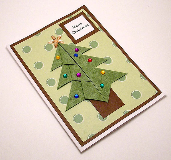 Origami-Christmas-card