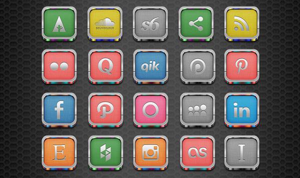 50-Free-Silver-Social-Media-Icons