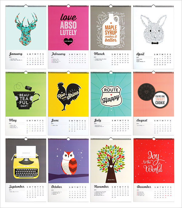 Calendar Typography Xp : Get the best wall calendar of from beautiful options