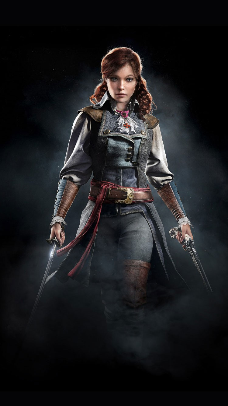 Assassins-Creed-Unity-Elise-iPhone-Wallpaper