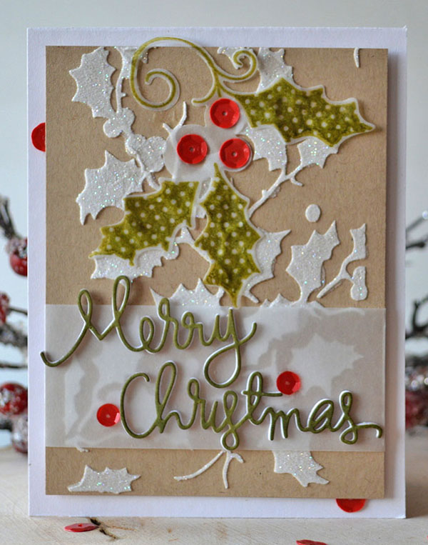 beautiful decorated diy christmas card ideas