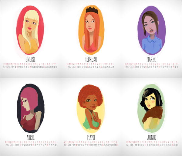 Characters-Calendario-2015-Design-2