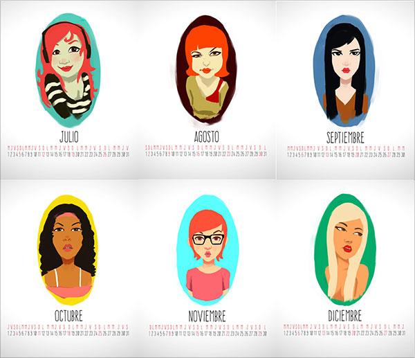 Characters-Calendario-2015-Design-3