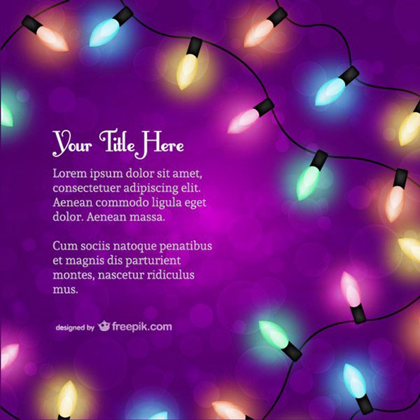 Christmas-lights-vector-design