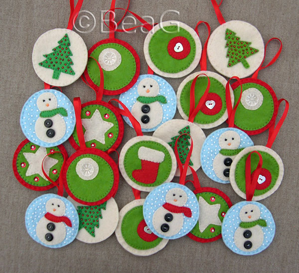 Cute Baubles Christmas decorations. 30  Cute Handmade Christmas Ornaments   Decoration Ideas 2014