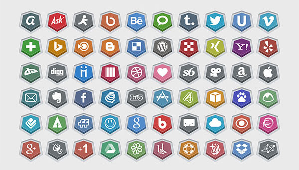 Embossed-Free-Social-Icons-vector+PNGs
