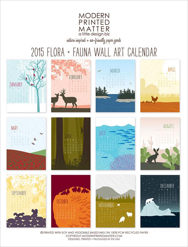Calendar Design Options : Get the best wall calendar of from beautiful options