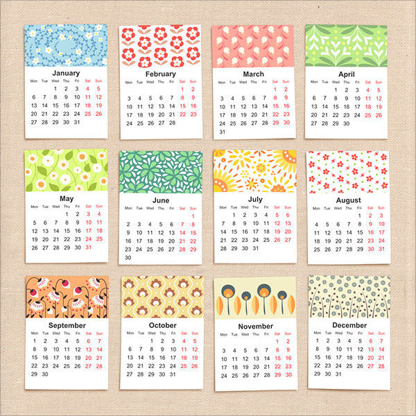 Yearly Calendar Design : New year wall desk calendar designs for inspiration