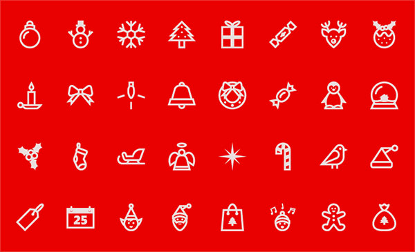 Free-Christmas-Line-Icon-Set