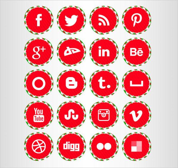 Free-Christmas-Social-Icons