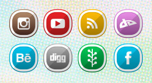 Free Cute Shaded Social Media Icons for 2015 Blogs & Websites (2)