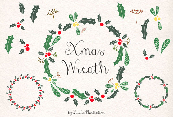 Free-Printable-Christmas-Wreath