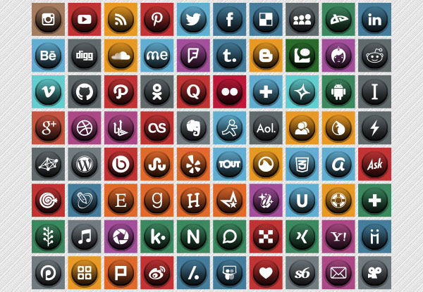Free-Unique-Social-Media-Icon-set