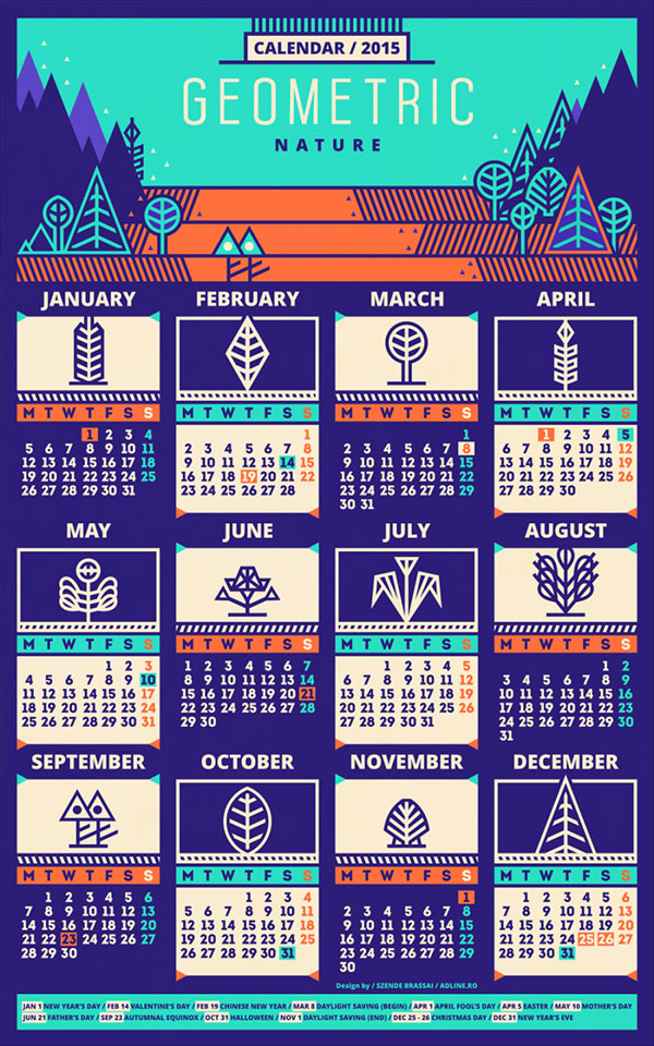 Calendar Typography Xp : New year wall desk calendar designs for inspiration