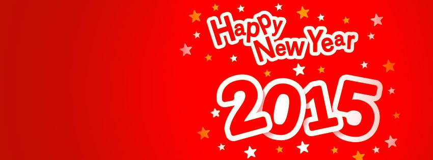 Happy New Year 2015 Facebook cover كفرات راس السنة للفيس بوك 2015 كفرات راس السنة 2015
