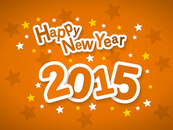 Happy New Year 2015 Typography1 بوستات بمناسبه راس السنه 2015  منشورات facebook بمناسبة راس السنة 2016