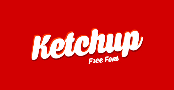 Ketchup Free Bold Script Font For Packaging