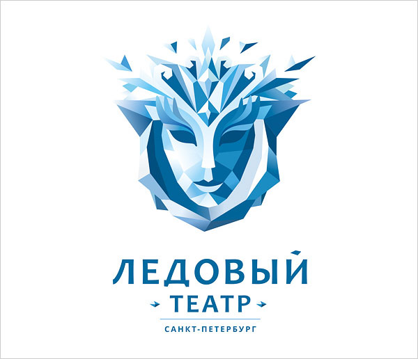 Logo-for-ice-theater-low-polygon-logo-design-example