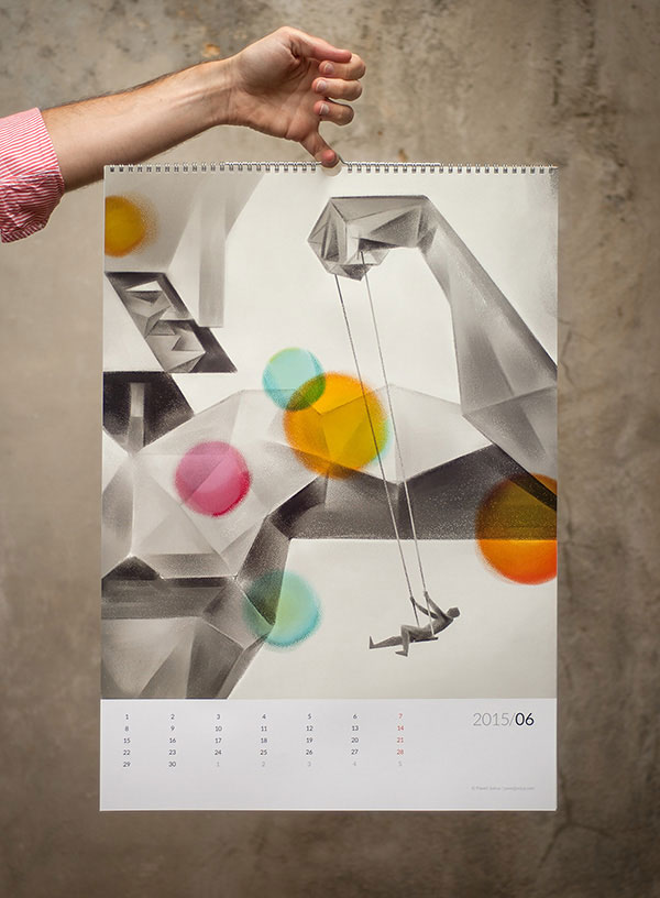 New Calendar Design Ideas : New year wall desk calendar designs for inspiration