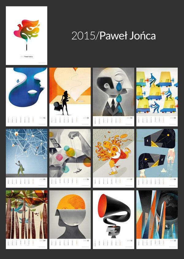 Paweł-Jonca-2015-wall-calendar-Ideas